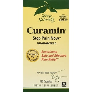 Terry Naturally Curamin Stop Pain Now - 120 Capsules - Experience safe and effective pain relief - Clinically studied