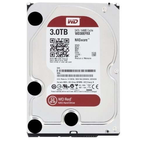 """Wd Red Wd30efrx 3.5"""" 3Tb Nas Hard Disk Drive 5400 Rpm Sata 6Gbps 64Mb Cache"""