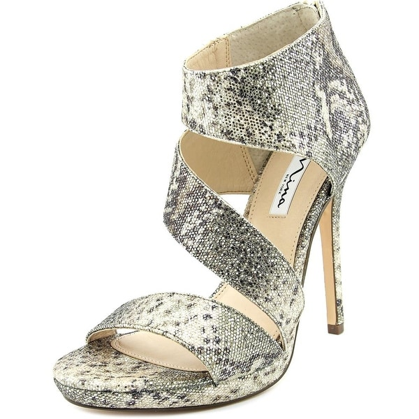 Nina Faust Women  Open Toe Canvas Gold Sandals