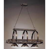 """Volume Lighting V3023 3-Light Down Light 23"""" Height Chandelier with Metal Dome Shade - n/a"""