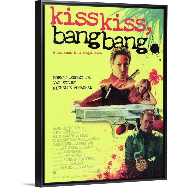 Kiss Kiss Bang Bang 2005 Black Float Frame Canvas Art Overstock 26973249
