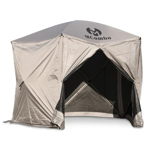 Mcombo Gazebo Tent Pop-Up Portable 4-Sided Hub Durable Screen Tent (4-6 Person) 6052-C1024-5PC