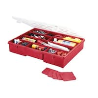 Stack-On SBR-18 17-Compartment Portable Tool & Parts Box, Red