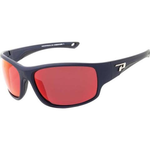 7762f22720 Peppers Sweetwater Sunglasses Matte Navy Smoke Polarized Fire Red Mirror - US  One Size