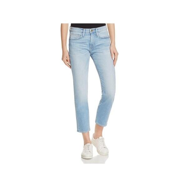 79dc9e1a0fc Shop Frame Denim Womens Le Boy Boyfriend Jeans Light Wash Distressed ...