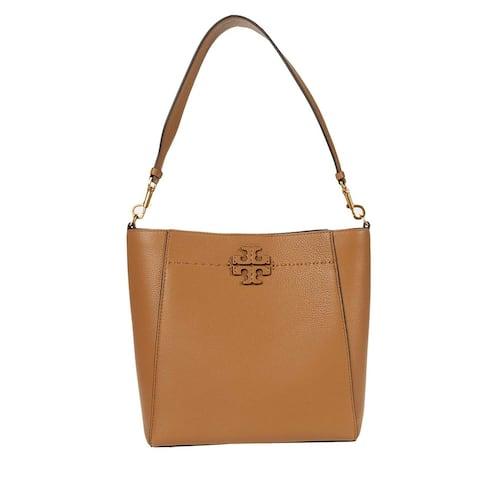 Tory Burch Womens Mcgraw Tiramisu Hobo Handbag