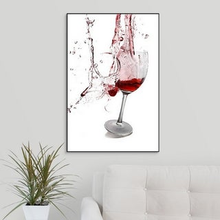 Premium Thick-Wrap Canvas entitled Exploding wine glass