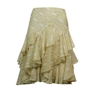 Lauren Ralph Lauren Women's Python-Print Ruffled Skirt
