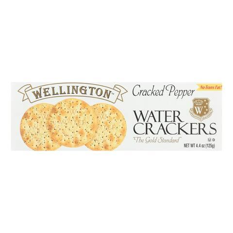 Wellington Cracked Pepper - Water Cracker - Case of 12 - 4.25 oz.