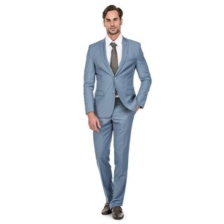 Porto Filo 2 Pcs Light Blue Slim-Fit Men's Suit
