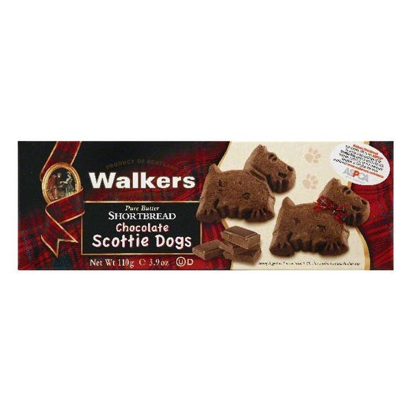 Shop Black Friday Deals On Walkers Chocolate Scottie Dogs Pure Butter Shortbread 3 9 Oz Pack Of 12 On Sale Overstock 23119806