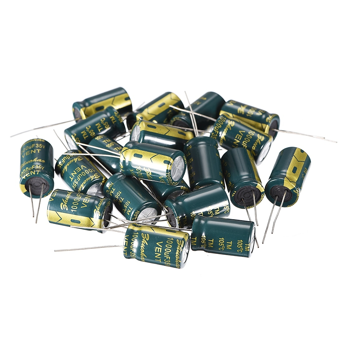 Capacitors   1000@35v 105 ºC Radial  Pack of 10ea *SHIPS FROM THE USA*