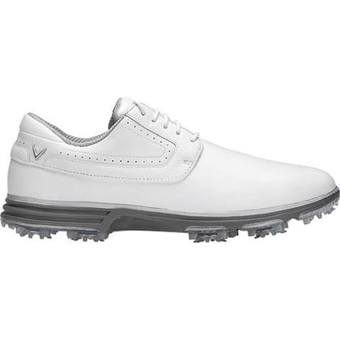 Callaway Men's LaGrange 2.0 Waterproof Golf Spike White Full Grain Leather