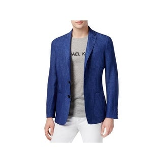 Michael Kors Mens Two-Button Blazer Linen Slim Fit