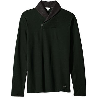 Calvin Klein NEW Green Mens Size Large L Colorblock Shawl-Collar Sweater
