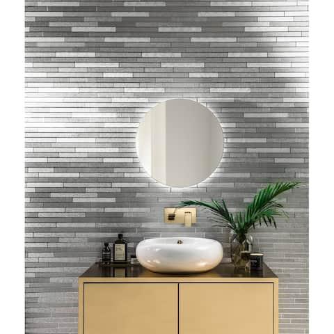 Arthouse Foil Slate Silver Vinyl Wallpaper