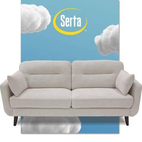 "Serta Sierra Collection 61"" Mid-Century Loveseat"