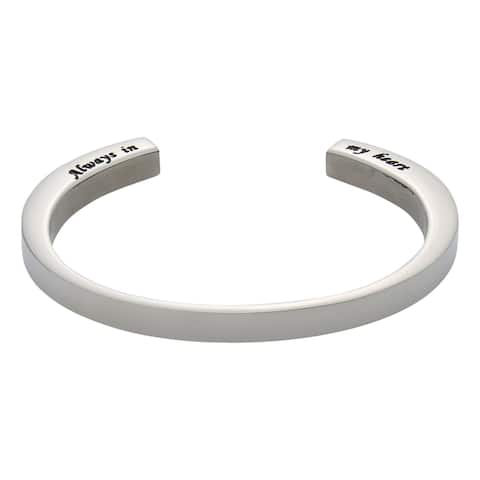 Anavia Jewelry & Gifts Memorial Ash Bracelet - Stainless Steel Cuff Holds Ashes - Silver