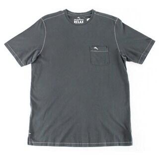 Tommy Bahama NEW Charcoal Gray Mens Size Small S Crewneck Tee Shirt