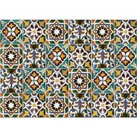 "Brewster CR-67210 18-1/2"" x 25-3/5"" - Green Tiles - Self-Adhesive Repositionable Vinyl Kitchen Panel - 3-3/10 SQ FT - N/A"