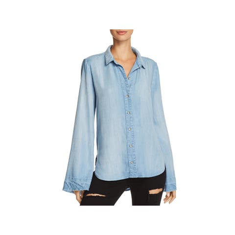 Bella Dahl Womens Casual Top Button Front Released