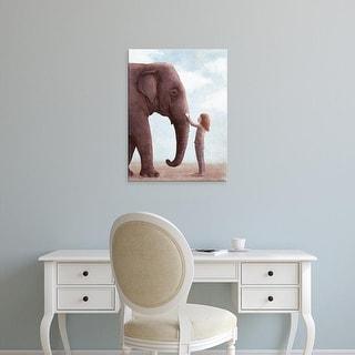 Easy Art Prints Terry Fan's 'One Amazing Elephant' Premium Canvas Art