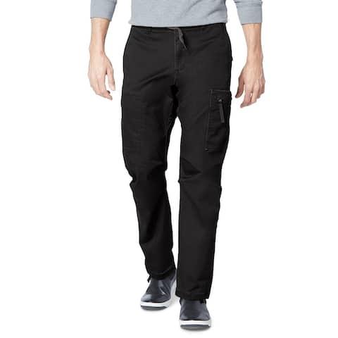 Dockers Men's Straight-Fit Stretch Urban Twill Cargo Pants Black Size 34X34