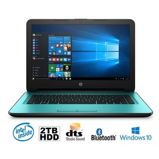 "HP 17-x033DS Intel N3710 Quad-Core, 8GB, 2TB HDD, 17.3"" HD+ WLED, Notebook (Certified Refurbished)"