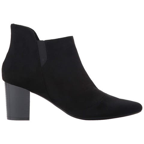 Rockport Womens Gail Zip Fabric Pointed Toe Ankle Fashion Boots