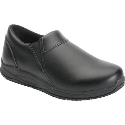 Drew Women's Sage Slip On Shoe Black Leather