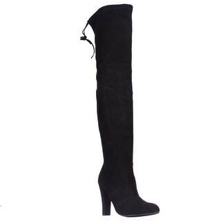 Steve Madden Gorgeous Over-The-Knee Dress Boots - Black