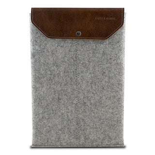 "Graf & Lantz Emmet Sleeve with Leather Flap for 15"" MacBook Pro - Grey"