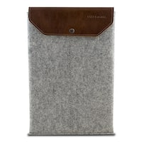 "Graf & Lantz Felt Sleeve with Leather Flap for 11"" MacBook Air - Gray"