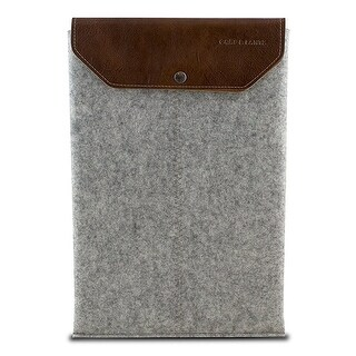 "Graf & Lantz Felt Sleeve with Leather Flap for 11"" MacBook Air - Gray"