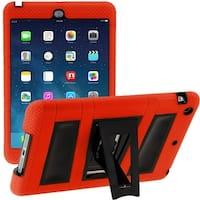 i-Blason, Apple iPad Mini with Retina Display, Armorbox 2 Layer Convertible Full-body Protection Kickstand Case-Red/Blac
