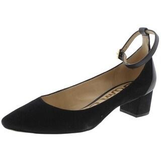 Sam Edelman Womens Lola Pumps Suede Ankle Strap