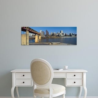 Easy Art Prints Panoramic Image 'Memphis, Tennessee skyline, Mississippi River' Canvas Art