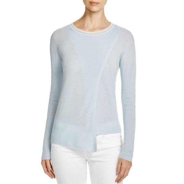 Elie Tahari Womens Anisa Pullover Sweater Merino Wool Crossover