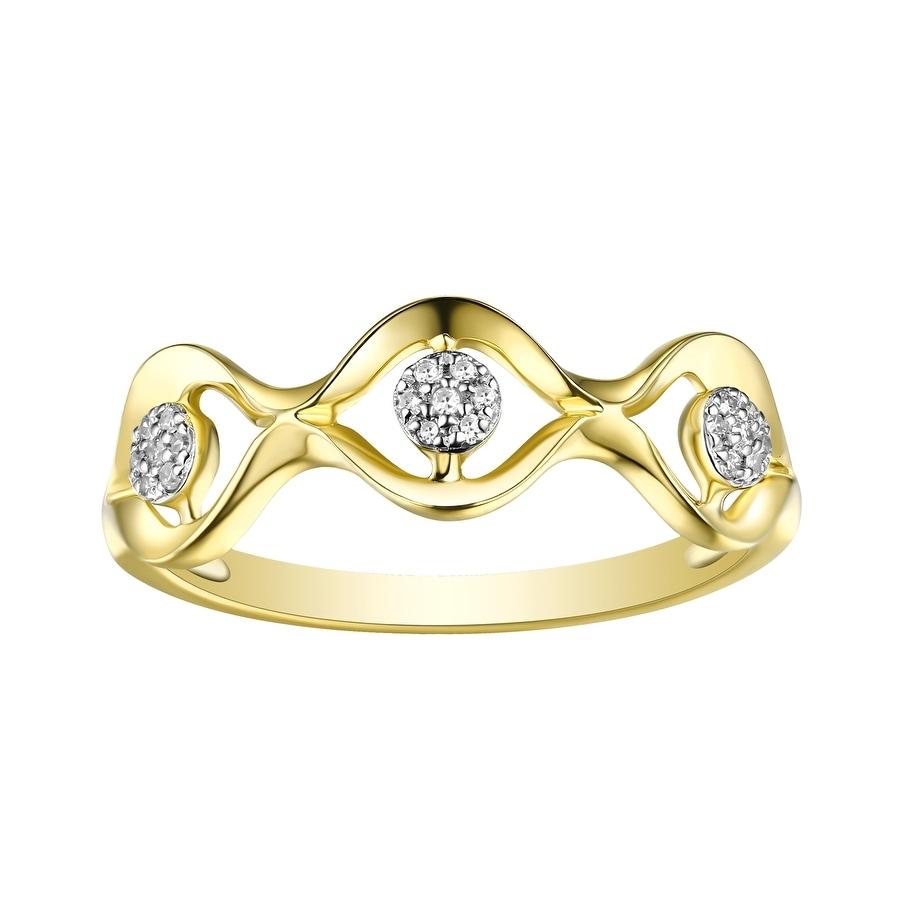 Prism Jewel G-H//I1 Round Natural Diamond Clasy Style Designer Ring