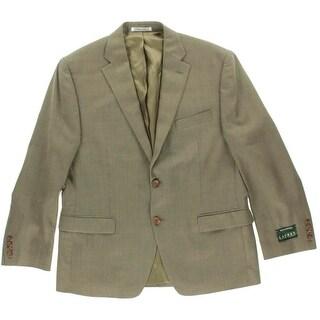 Lauren Ralph Lauren Mens Silk/Wool Blend Houndstooth Sportcoat - 42S