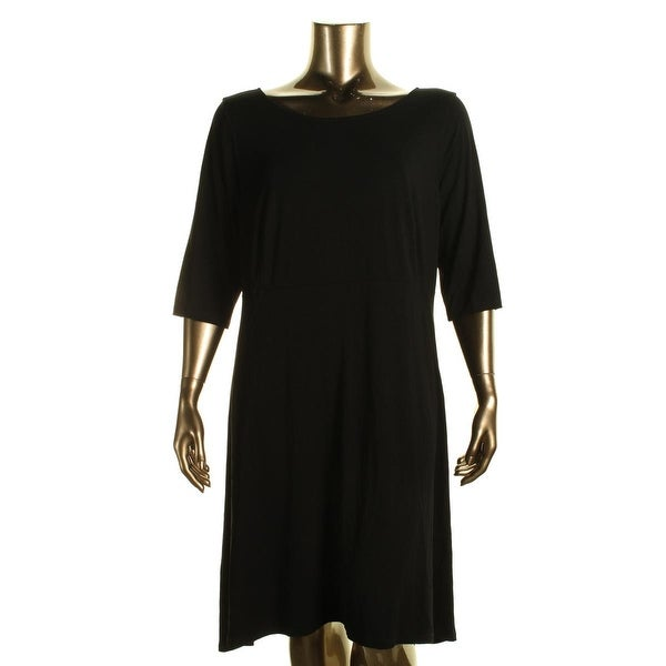 Eileen Fisher Womens Plus Casual Dress Knee-Length Fit & Flare