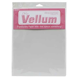 Grafix - Vellum Sheet - Inkjet Printable - Clear