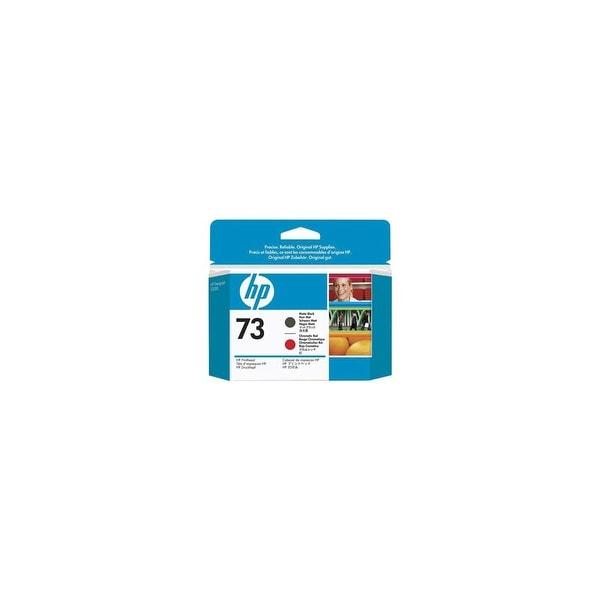 HP 73 Matte Black & Chromatic Red DesignJet Printhead 2 Cartridges (Single Pack)
