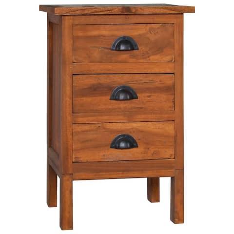 "vidaXL Bedside Cabinet 15.7""x13.8""x23.6"" Solid Teak Wood"