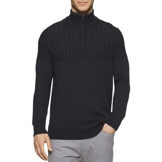 Calvin Klein Mens Sweater Ribbed Knit 1/2 Zip