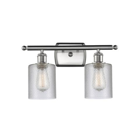 Restorations Two Light Bath Vanity Iron Works Brushed Satin Nickel - Exact Size