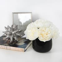 G Home Collection Luxury White Peony Flower Arrangement