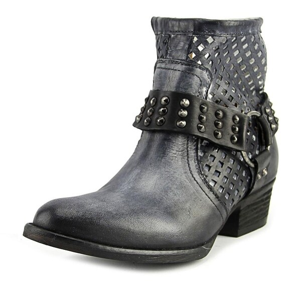 Very Volatile Mitch Women Round Toe Leather Black Combat Boot