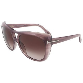 Tom Ford TF 294/S 83Z Claudette Purple Gradient Aviator Sunglasses