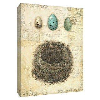"""PTM Images 9-154896  PTM Canvas Collection 10"""" x 8"""" - """"Spring Nests II"""" Giclee Eggs Art Print on Canvas"""